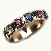 Five stone in-line mothers ring